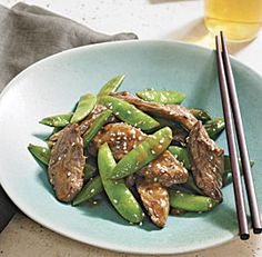 Sesame Beef and Snap Peas