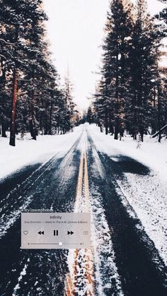 """""""Infinity"""" Winter Lockscreen   ctto: @stylinsonphones"""