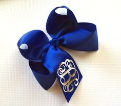Monogram Boutique Hair Bow, Headband, Monogrammed gifts for Children, Bows, Hair Clips, Hair Accessory
