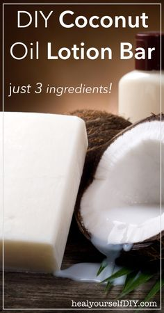 DIY Coconut Oil Lotion Bar | just 3 ingredients! | www.healyourselfDIY.com