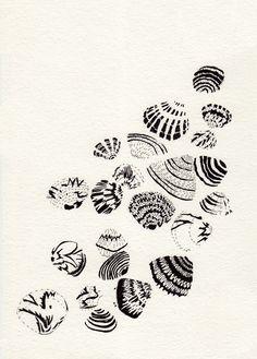 seashells ~ artist Angelica  #journal #sketch