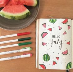 If you've been thinking about having a fruit themed spread in your bullet journal, you need this 25 journal spreads for inspiration! Bullet Journal August, Bullet Journal Inspo, Bullet Journal Spreads, Bullet Journal Cover Ideas, Bullet Journal Monthly Spread, Bullet Journal Writing, Bullet Journal Aesthetic, Journal Covers, Junk Journal