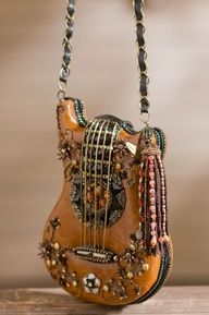 Guitar Purse,Mary Francis. Saw this in boutique yesterday. Beautiful and the quality is incredible. True piece of art.