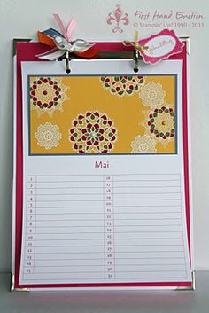Birthday Calendar with Delicate Doilies from Stampin' Up!