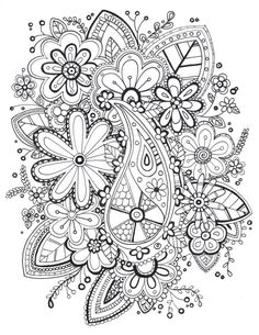 """I decided to start creating a """"Grown Ups"""" coloring book this is my first attempt at a page. ENJOY!!"""