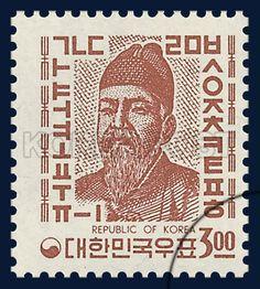 REGULAR STAMP, Sejong the Great , traditional culture,  light violet, 1966 08 20, 보통우표, 1966년 08월 20일, 517, 한글 세종대왕, postage 우표