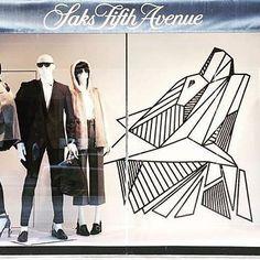 Another fab display from the @saks_queenst A-team @thebellabrandy @ellen.chung @gabriellierose #saks #saksfifthavenue #storewindows #windowdisplay #vm #visualmerchandising #visualstyling #vmd #vmdaily