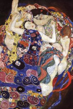Gustav Klimt. The different figures represents the stages from a young girl to woman, in a flower pattern.