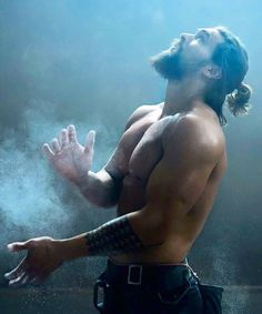 Jason Momoa - like the angels are shining down on him...