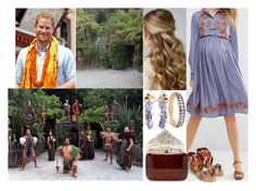 """""""Tour of New Zealand & Australia Day 5 : Visiting the Tamaki Maori Village with Harry"""" by charlottedebora ❤ liked on Polyvore featuring ASOS, Blue Nile, Accessorize and Rocio"""