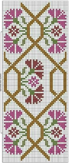 Handcrafting a satin stitch flower embroidery may well be a lost art in the near future. However, this is a skill that anyone can practice and learn and make beautiful embroidery handpieces for all occasions. Cross Stitch Bookmarks, Cute Cross Stitch, Cross Stitch Borders, Cross Stitch Flowers, Cross Stitch Charts, Cross Stitch Designs, Cross Stitching, Cross Stitch Embroidery, Cross Stitch Patterns