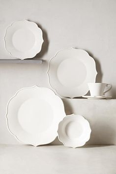 Lotus Cup & Saucer - anthropologie.com