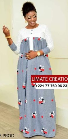 - Source by detlefleu - Long African Dresses, Latest African Fashion Dresses, African Print Dresses, African Print Fashion, African Attire, African Wear, Formal Dresses With Sleeves, African Traditional Dresses, Wedding