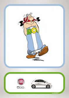Fiat 500: Obelix | Ads of the World™