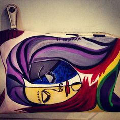Bolsa pintada a mano. Hand painted bag.