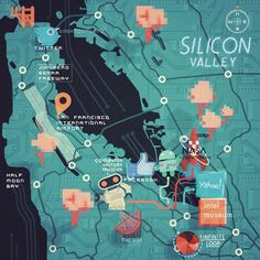 Steve McCarthy - Map of Silicon Valley