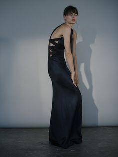 Galvan Criss Cross Dress Midnight Black