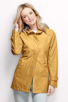 Women's Coastal Rain Parka from Lands' End- want this in tan!