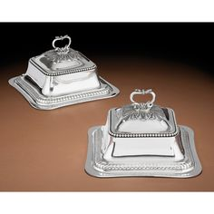 A PAIR OF FRENCH SILVER SQUARE DISH COVERS, HENRY AUGUSTE, PARIS, 1789-1790 Gold Box, Modern Art, Cool Designs, Dish, Auction, French, Silver, Prints, Stuff To Buy