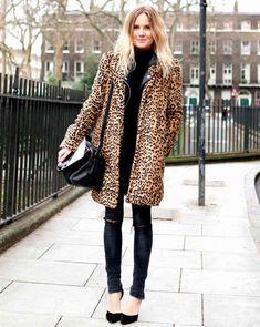 leopard print turtleneck