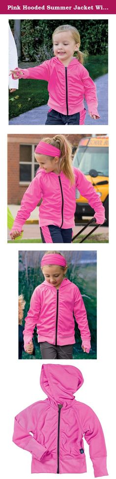 Pink Hooded Summer Jacket With Insect Shield by Bug Smarties, Girl Size 4T. Insect Shield Repellent Apparel are revolutionary products designed to provide long-lasting, odorless insect protection. Recommended by the CDC, WHO and The American Academy of Family Physicians, the protection provided by this apparel is the end result of years of research and testing. - EPA Registered - Insect Shield products have been rigorously evaluated to assure that they will not have adverse health…