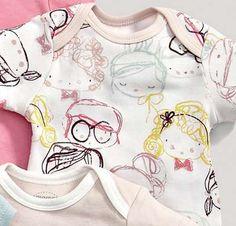Kids Prints, Baby Prints, Kids Patterns, Print Patterns, Kids Graphics, Winter Kids, Illustration Girl, Kid Styles, Baby Wearing