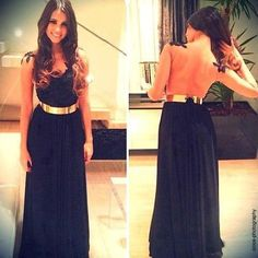 Gold Strap Backless