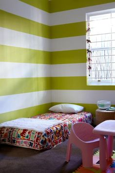 16 Striped Walls Ideas For Kids Room Design | Kidsomania