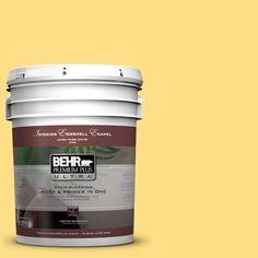 BEHR Premium Plus Ultra 5-gal. #360B-4 Sweet Chamomile Eggshell Enamel Interior Paint