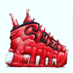 Chicago @nike Uptempo by @stomper_haus  #fashion #fashiondesigner #fashionblogger #design #designer #shoes #shoe #shoeporn #sneakers #sneakerhead #sneaker #tokyo #paris #newyork #losangeles #nike #nikeairmax #nikes #chicago