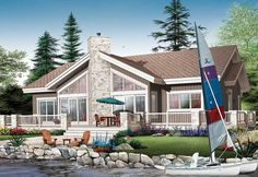 Four Bedroom Vacation Home Plan - 21747DR | 1st Floor Master Suite, Beach, CAD Available, Canadian, Metric, Mountain, PDF, Vacation, Wrap Around Porch | Architectural Designs