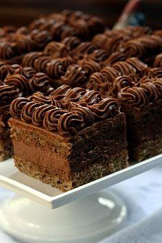 hazelnut cake with chocolate creme  Tidbits.... - MniamMniam.pl