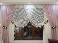 The Background # breasted and tul to Living Room Decor Curtains, Living Room Divider, Home Curtains, Modern Curtains, Curtains With Blinds, Kitchen Curtains, Farmhouse Curtains, Country Curtains, Curtain Styles
