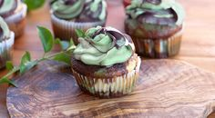 Camo Cupcakes - the most pretty camouflage I've ever seen!  I could see some birthday party applications of this technique, too.  @Tia Rasmussen
