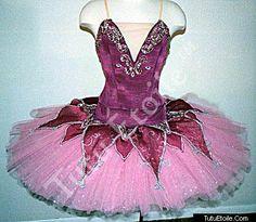 Pink and Burgandy Tutu