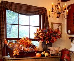 Fall Home Decor - Discover home design ideas, furniture, browse photos and plan projects at HG Design Ideas - connecting homeowners with the latest trends in home design & remodeling Primitive Fall Decorating, Autumn Decorating, Decorating Your Home, Decorating Ideas, Decor Ideas, Primitive Decor, Primitive Country, Primitive Autumn, Porch Decorating