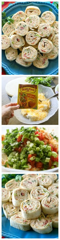 These Chicken Enchilada Roll Ups are a great appetizer for parties! Easy to make ahead and easy to serve. the-girl-who-ate-everything.com by Aniky