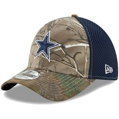 6b6fd6e57 Dallas Cowboys New Era Youth Team Color Star Logo Neo 39THIRTY Flex Hat -  Realtree Camo Navy