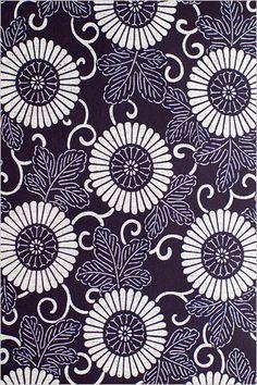 呉服鈴木   浴衣   菊唐草 - Classic Japanese kimono pattern (Chrysanthemum)