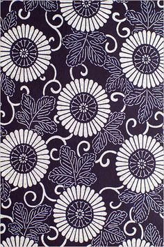 Classic Japanese kimono chrysanthemum pattern in blue and white. Japanese Textiles, Japanese Patterns, Japanese Prints, Japanese Design, Japanese Style, Japanese Paper, Japanese Fabric, Japanese Kimono, Kimono Pattern