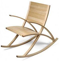 Muebles Modernos. El sillón mecedora Presidente Wishbone - materiales,diseño de nuevos muebles,formas y texturas,silueta,sillón mecedora,madera de arce,líneas del sillón,espacio en el piso,tapizado,mobiliario tradicional,emplear diferentes materiales,del mueble