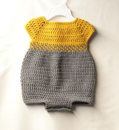 Crochet Baby Romper Looking for your next project? You're going to love Crochet Baby Romper. by designer TMKCrochet. Crochet Romper, Crochet Bebe, Crochet Baby Clothes, Cute Crochet, Crochet For Kids, Crochet For Beginners, Crochet Baby Girls, Baby Clothes Patterns, Baby Patterns