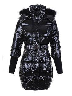 7073adc4b Womens Moncler Mokacine Coat Bright black,moncler bady jacket,moncler  polos,Authentic Down