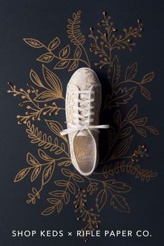 Fall florals done right. This gilded Champion canvas sneaker is just one of the noteworthy styles in the latest Keds X Rifle Paper Co. collection—which is all about sophisticated floral patterns that can be easily dressed up or down. See and shop all the styles at keds.com.