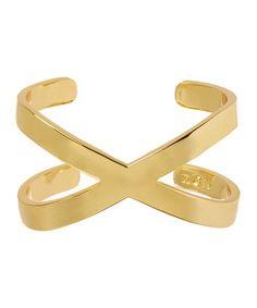 Gold X Cuff