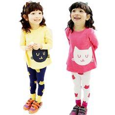 $4.68 (Buy here: https://alitems.com/g/1e8d114494ebda23ff8b16525dc3e8/?i=5&ulp=https%3A%2F%2Fwww.aliexpress.com%2Fitem%2F2Pcs-Baby-Girls-Cartoon-Cat-Long-Sleeve-Cotton-Dress-T-Shirt-Pants-Trousers-2-7Y-PY5%2F32627461053.html ) 2Pcs Baby Girls Cartoon Cat Long Sleeve Cotton Dress T Shirt+Pants Trousers 2-7Y PY5 L4 for just $4.68