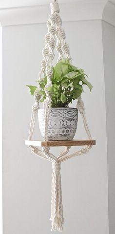 Diy Crafts Ideas : Wood Macrame Shelf