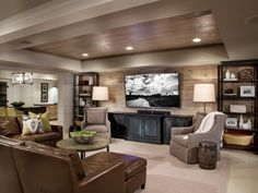 HGTV.com shares the amazing transformation of an unfinished basement into a…
