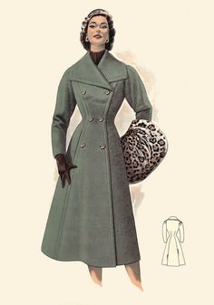 1950s Coats love this style with the muff.