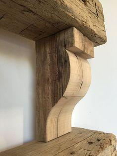 Reclaimed Barn Wood Hand Hewn Corbels